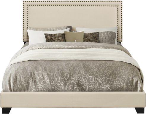 Melina Cream King Upholstered Bed