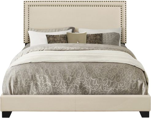 Melina Cream King Upholstered Bed