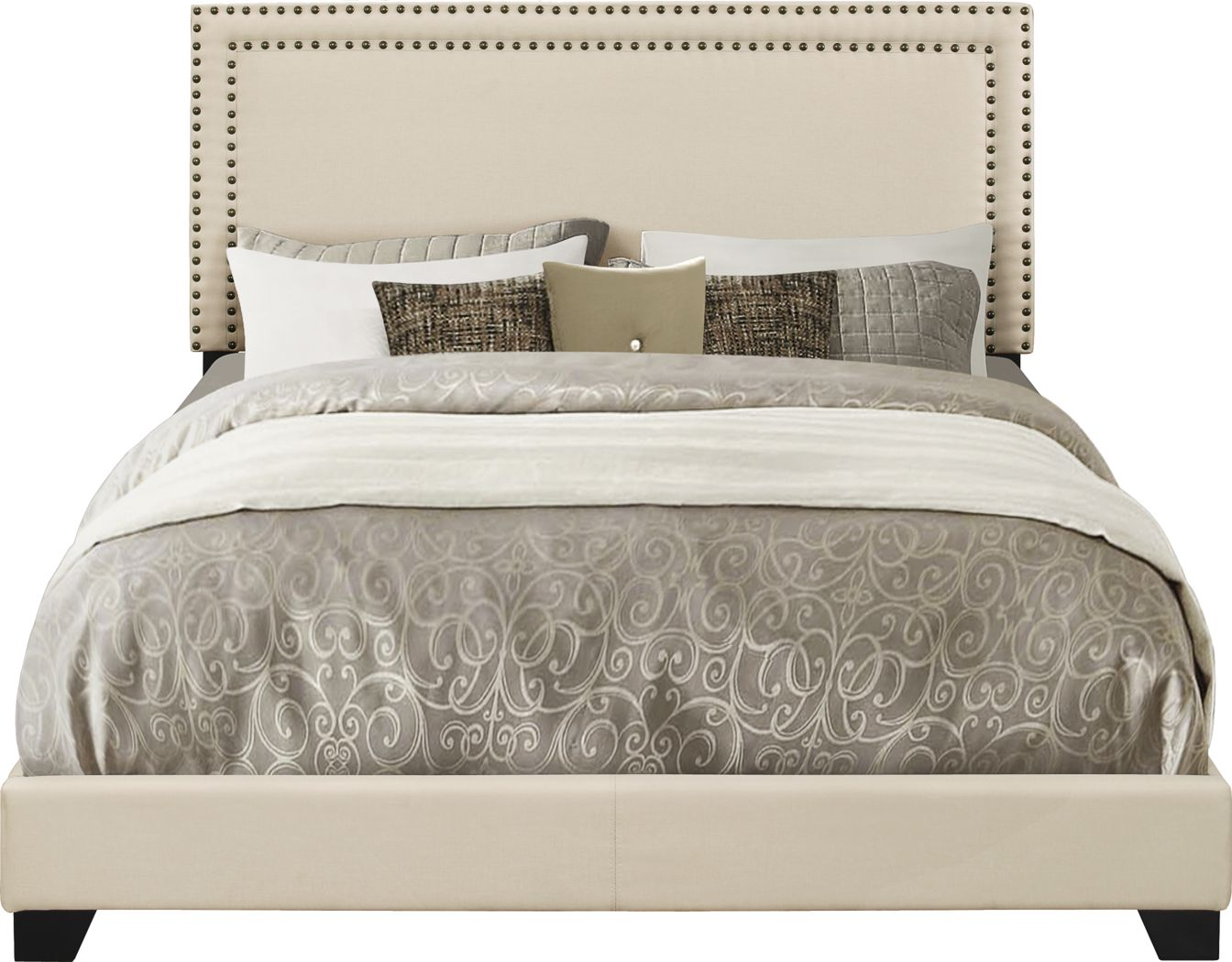 Melina Cream Queen Upholstered Bed