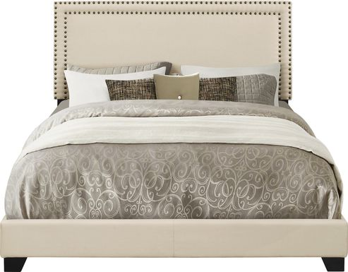 Melina Cream Queen Upholstered Bed