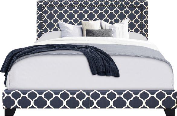 Melina Navy Queen Bed