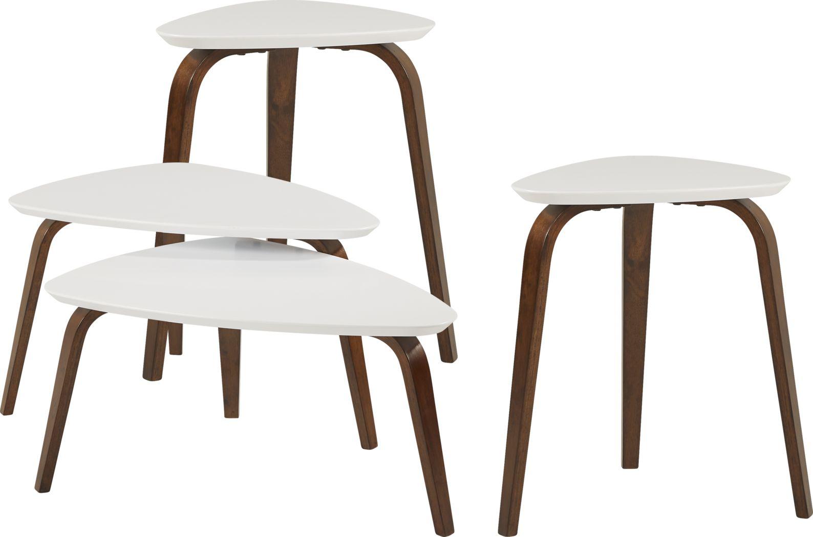 Melodina White 4 Pc Table Set