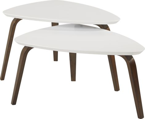 Melodina White 2 Pc Nesting Cocktail Table