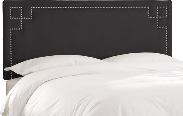 Kids Mendon Bluff Full Black Headboard