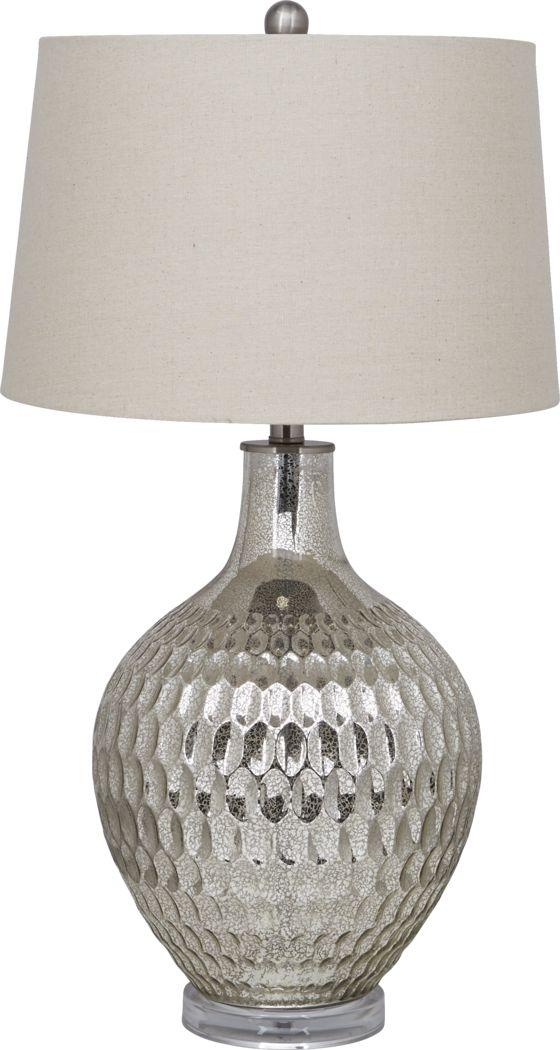 Mercury Place Silver Lamp