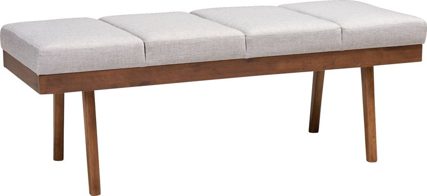 Merimac Gray Accent Bench