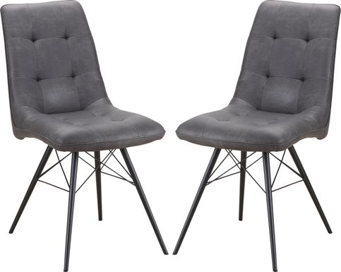 Merrilee Gray Dining Chair (Set of 2)