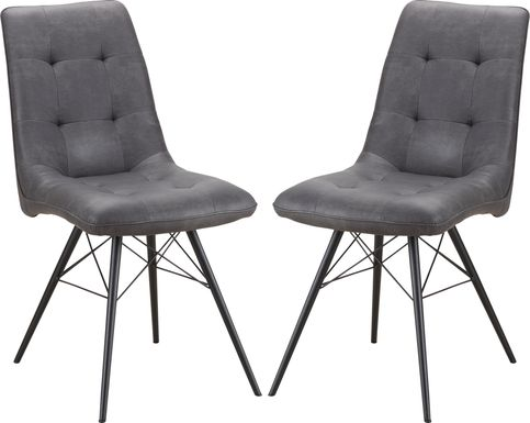 Merrilee Gray Dining Chair (Set of 2)