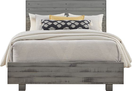 Merriwood Hills Gray 3 Pc King Panel Bed