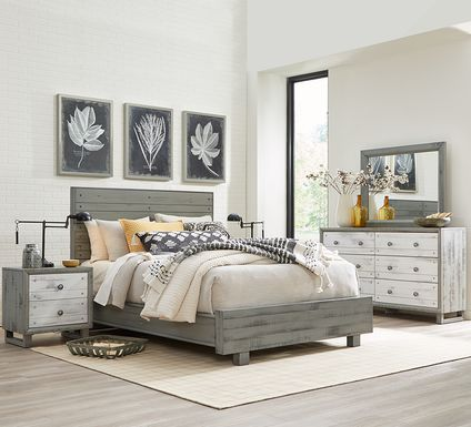 Merriwood Hills Gray 7 Pc King Panel Bedroom