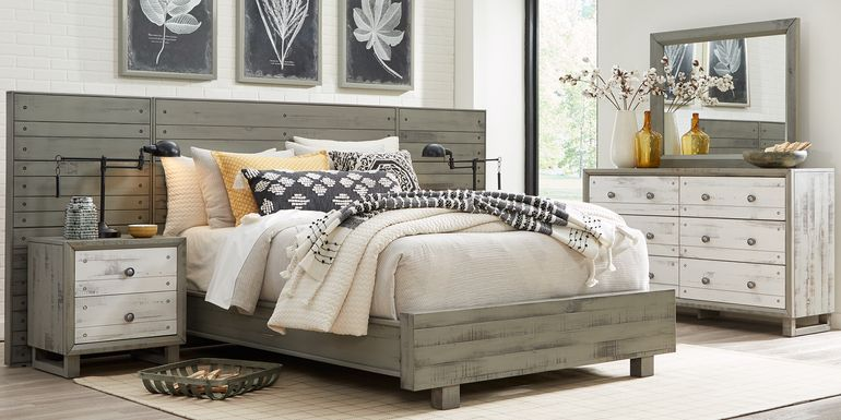 Merriwood Hills Gray 7 Pc King Wall Bed with Nightstands