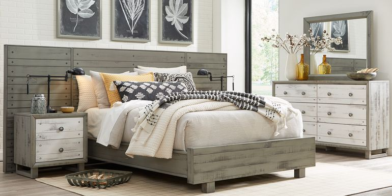 Merriwood Hills Gray 7 Pc Queen Wall Bed with Nightstands