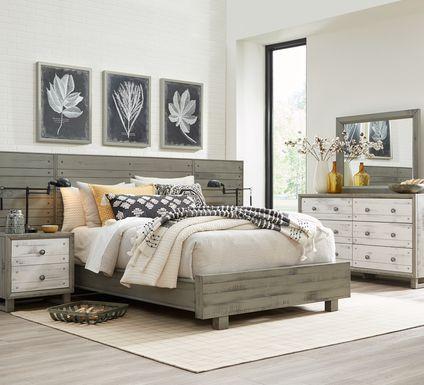 Merriwood Hills Gray 9 Pc King Wall Bedroom