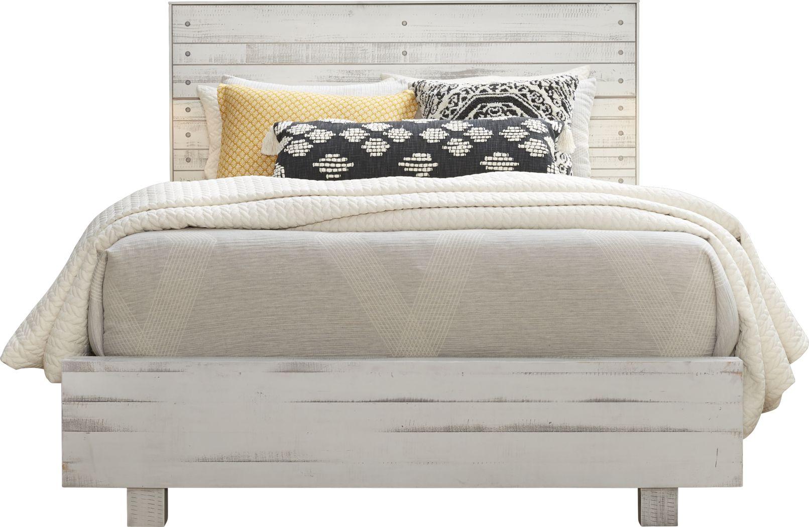 Merriwood Hills White 3 Pc King Panel Bed