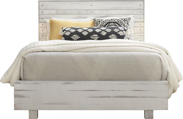 Merriwood Hills White 3 Pc King Panel Bed