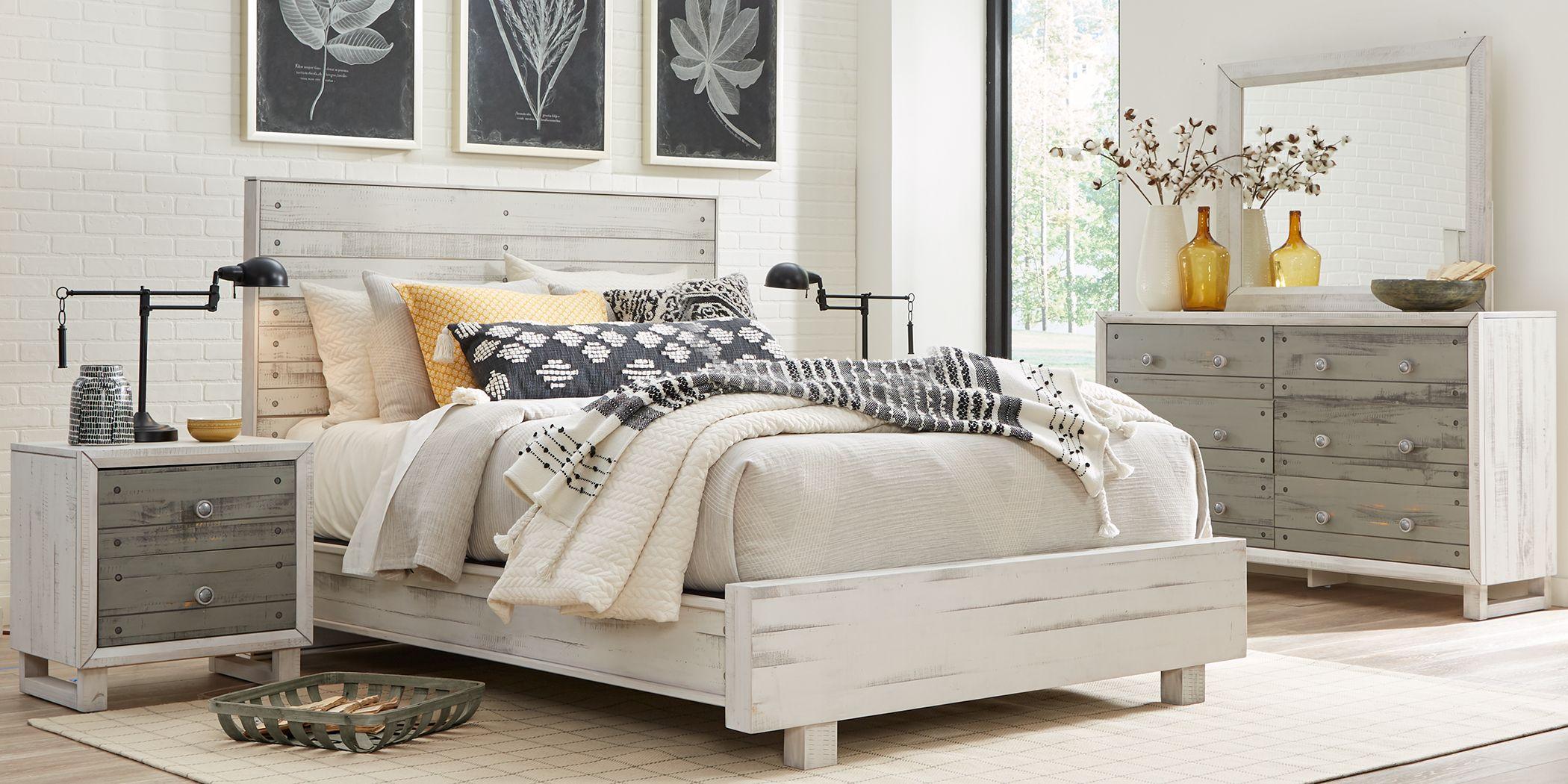 Merriwood Hills White 5 Pc King Panel Bedroom