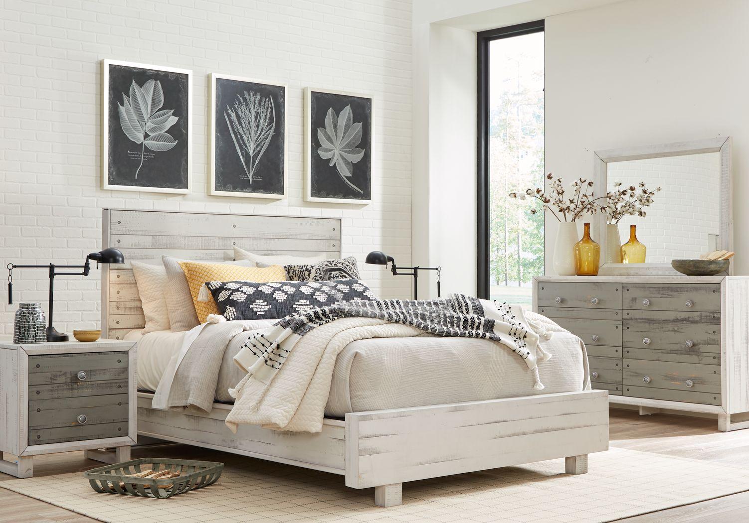 Merriwood Hills White 7 Pc King Panel Bedroom
