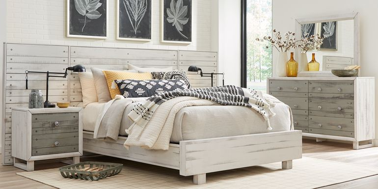 Merriwood Hills White 7 Pc King Wall Bed with Nightstands