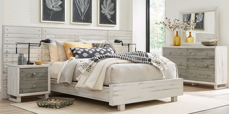 Merriwood Hills White 7 Pc Queen Wall Bed with Nightstands