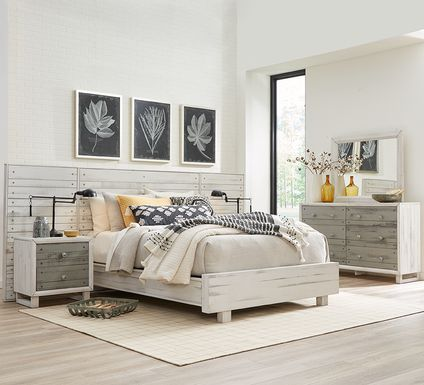 Merriwood Hills White 9 Pc King Wall Bedroom