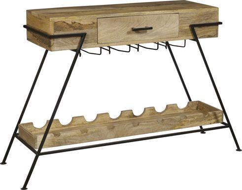 Merroway Brown Bar Cart