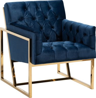 Mesbury Navy Accent Chair