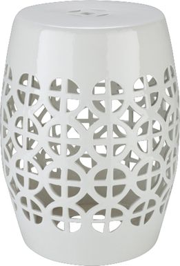Mesi White Outdoor Stool