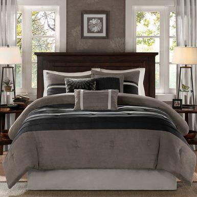 Metina Black 7 Pc California King Comforter Set