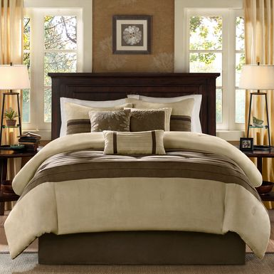 Metina Natural 7 Pc California King Comforter Set