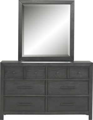 Kids Midcity Loft Carbon Dresser & Mirror Set