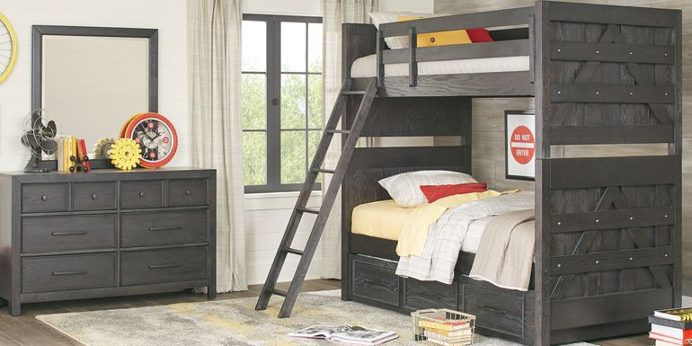 Midcity Loft Carbon Twin/Twin Bunk Bed