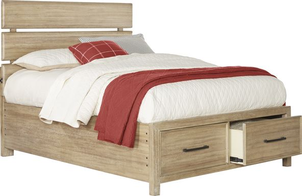 Kids Midcity Loft Sandstone 3 Pc Full Slat Bed with Storage