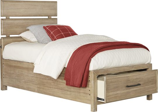 Kids Midcity Loft Sandstone 3 Pc Twin Slat Bed with Storage