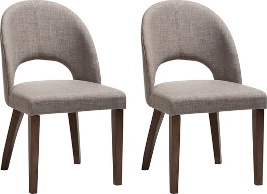 Midgaard Gray Dining Chair (Set of 2)