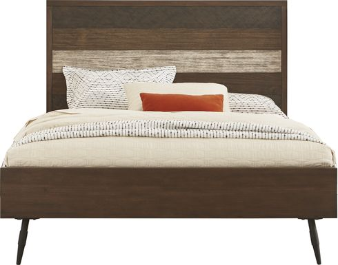 Midtown Loft Brown 3 Pc King Panel Bed