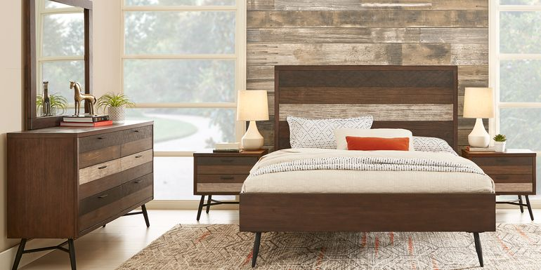 Midtown Loft Brown 5 Pc King Panel Bedroom
