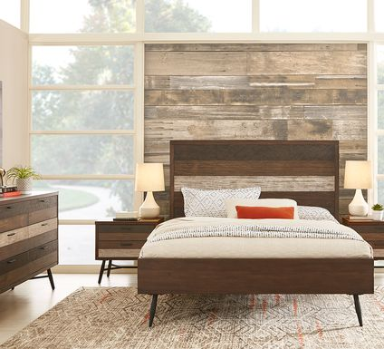 Midtown Loft Brown 7 Pc King Panel Bedroom