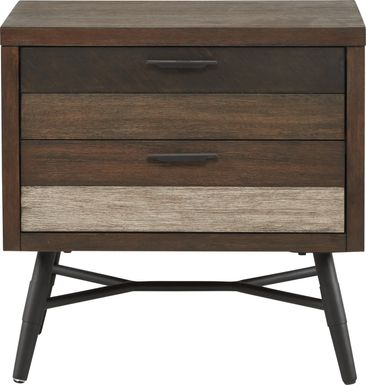 Midtown Loft Brown Nightstand
