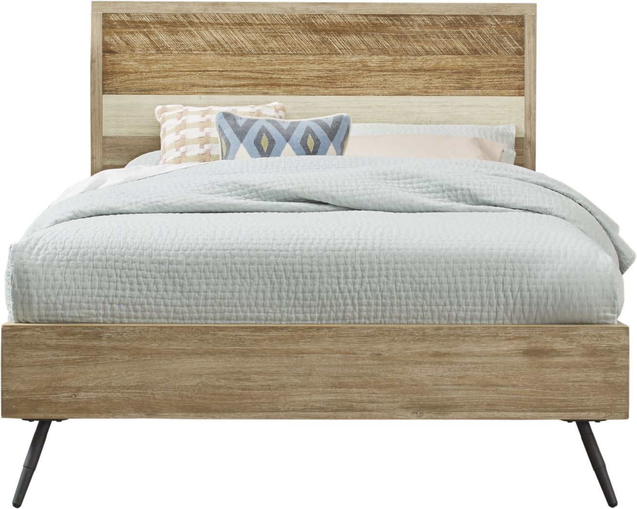 Midtown Loft Natural 3 Pc King Panel Bed