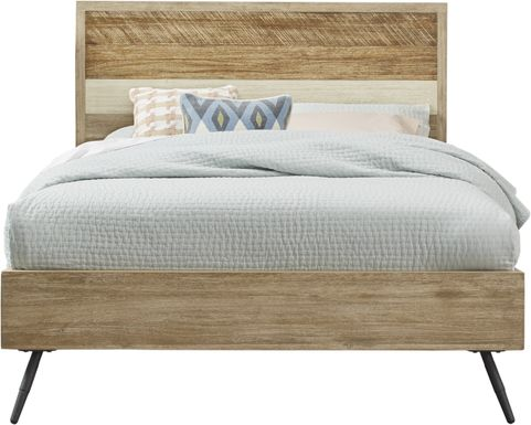 Midtown Loft Natural 3 Pc King Panel Bed
