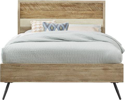 Midtown Loft Natural 3 Pc Queen Panel Bed