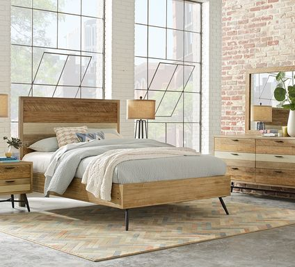 Midtown Loft Natural 5 Pc Queen Panel Bedroom