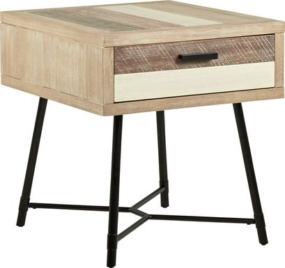 Midtown Loft Natural End Table