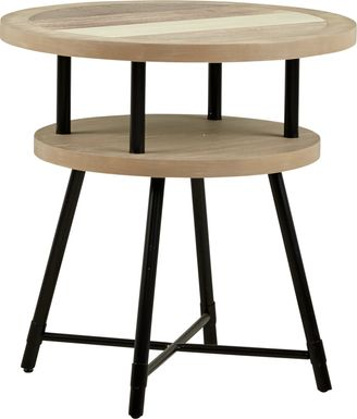 Midtown Loft Natural Round End Table