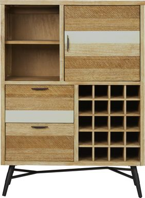 Midtown Loft Natural Wine Cabinet