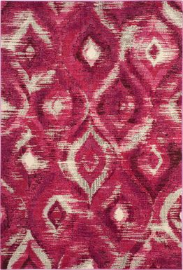 Midway Bay Pink 6'7 x 9'2 Rug
