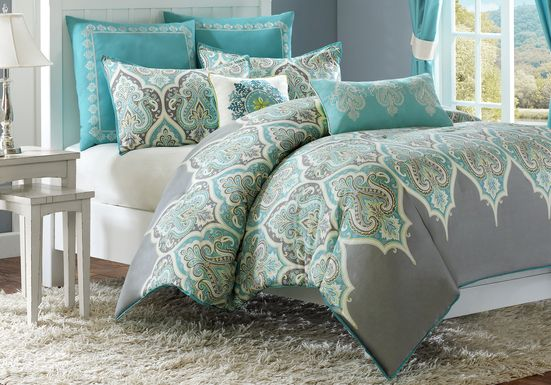 Milena Gray 7 Pc King Comforter Set
