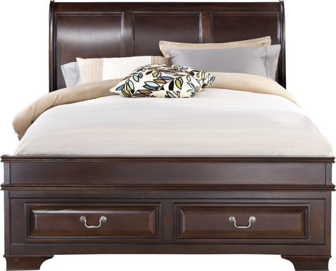 Mill Valley II Cherry 3 Pc King Sleigh Bed with Storage