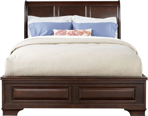 Mill Valley II Cherry 3 Pc King Sleigh Bed