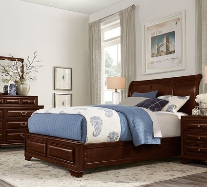 Mill Valley II Cherry 5 Pc Queen Sleigh Bedroom